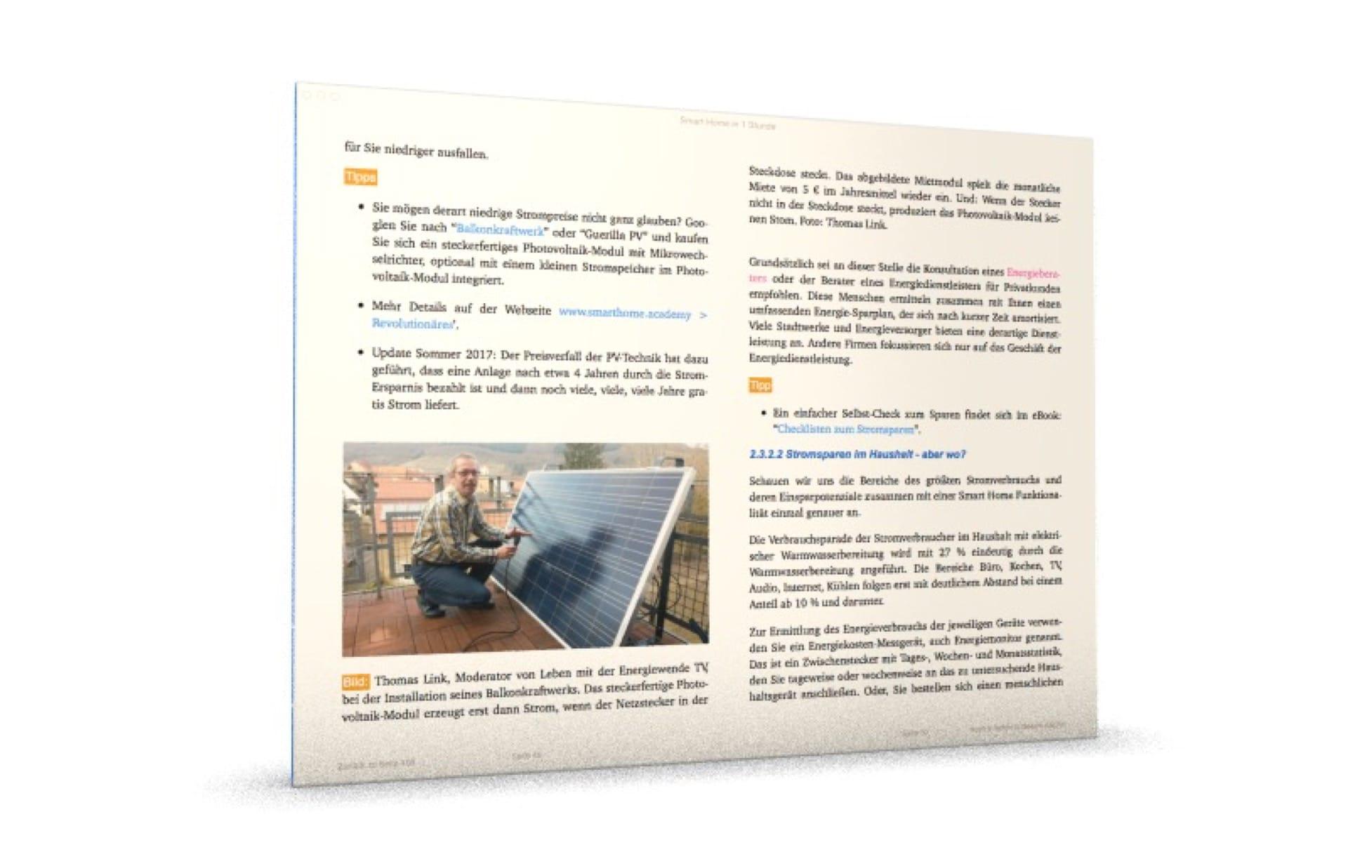 Smart Home: Strom selber erzeugen mit dem Balkonkraftwerk.
