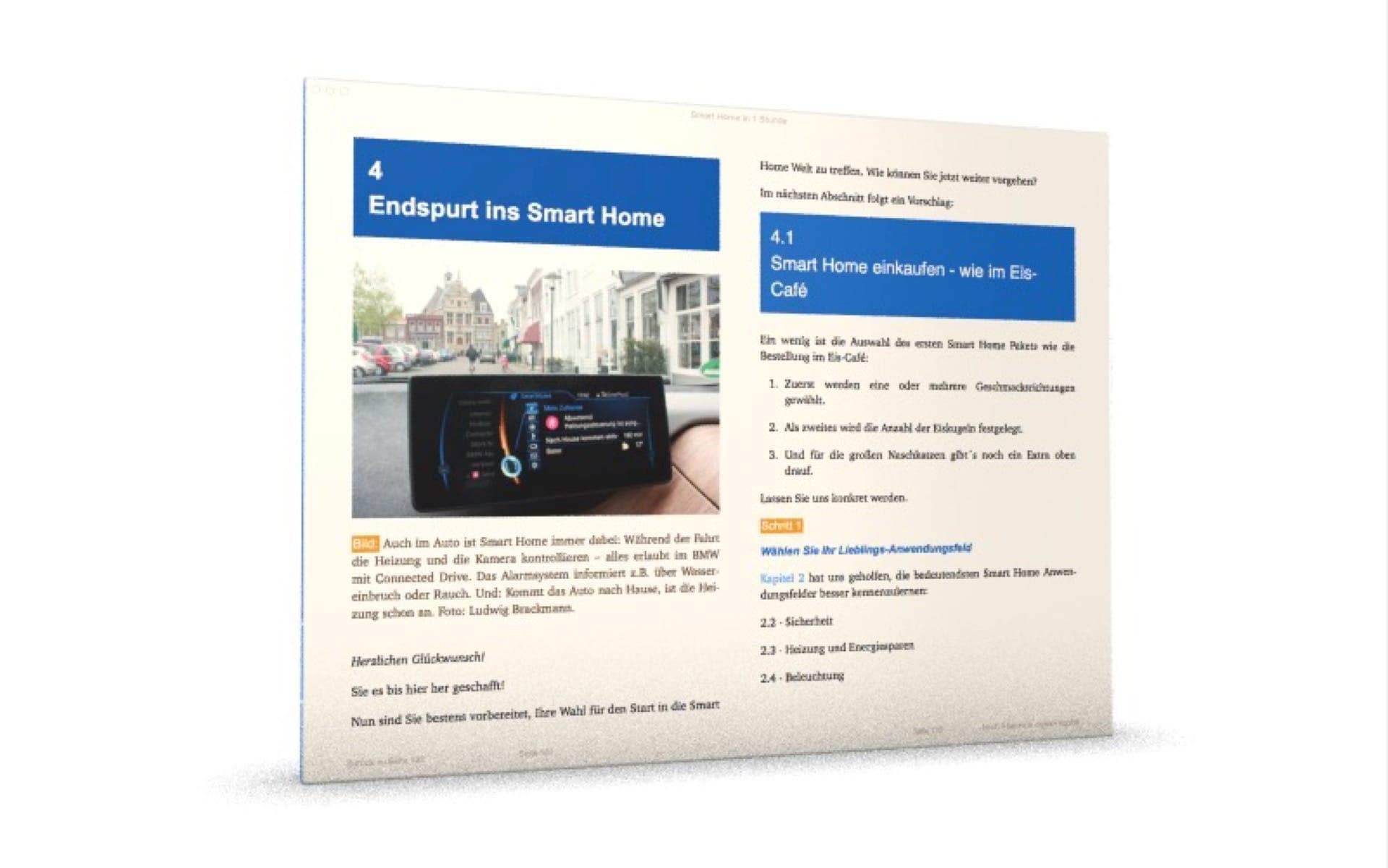 Smart Home Bedienung im Auto: Im BMW mit Connected Drive hat man auch sein Zuhause stets im Blick