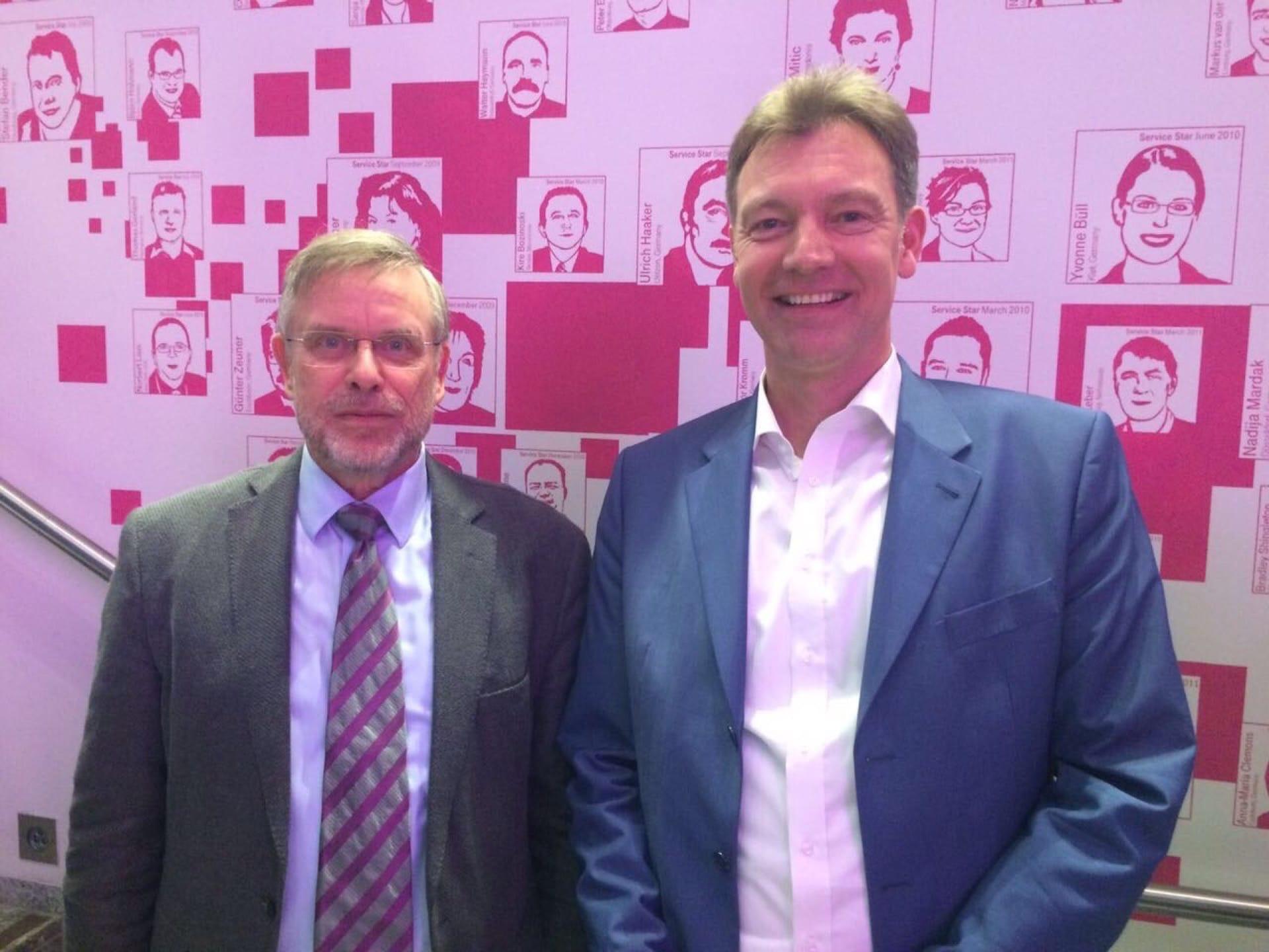 Ludwig Brackmann & Gunter Dueck beim T-Talk, Deutsche Telekom, 2017