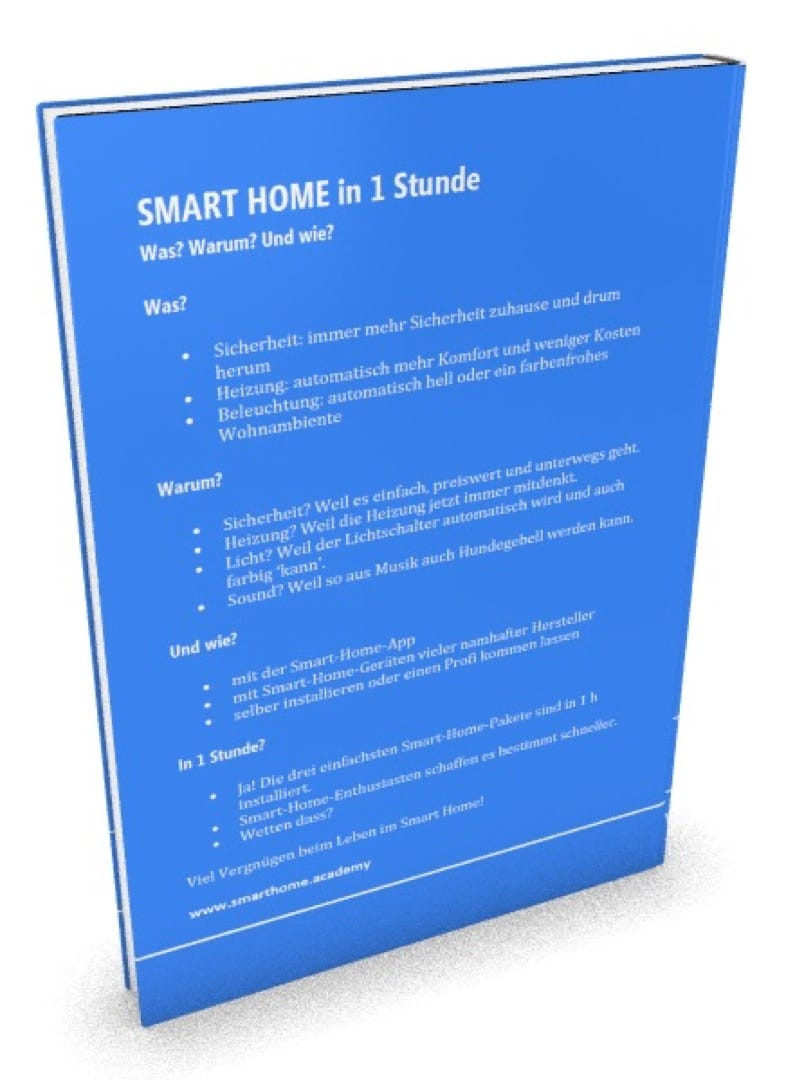 Einkaufskiste für die Smart Home Installation durch den Installateur.