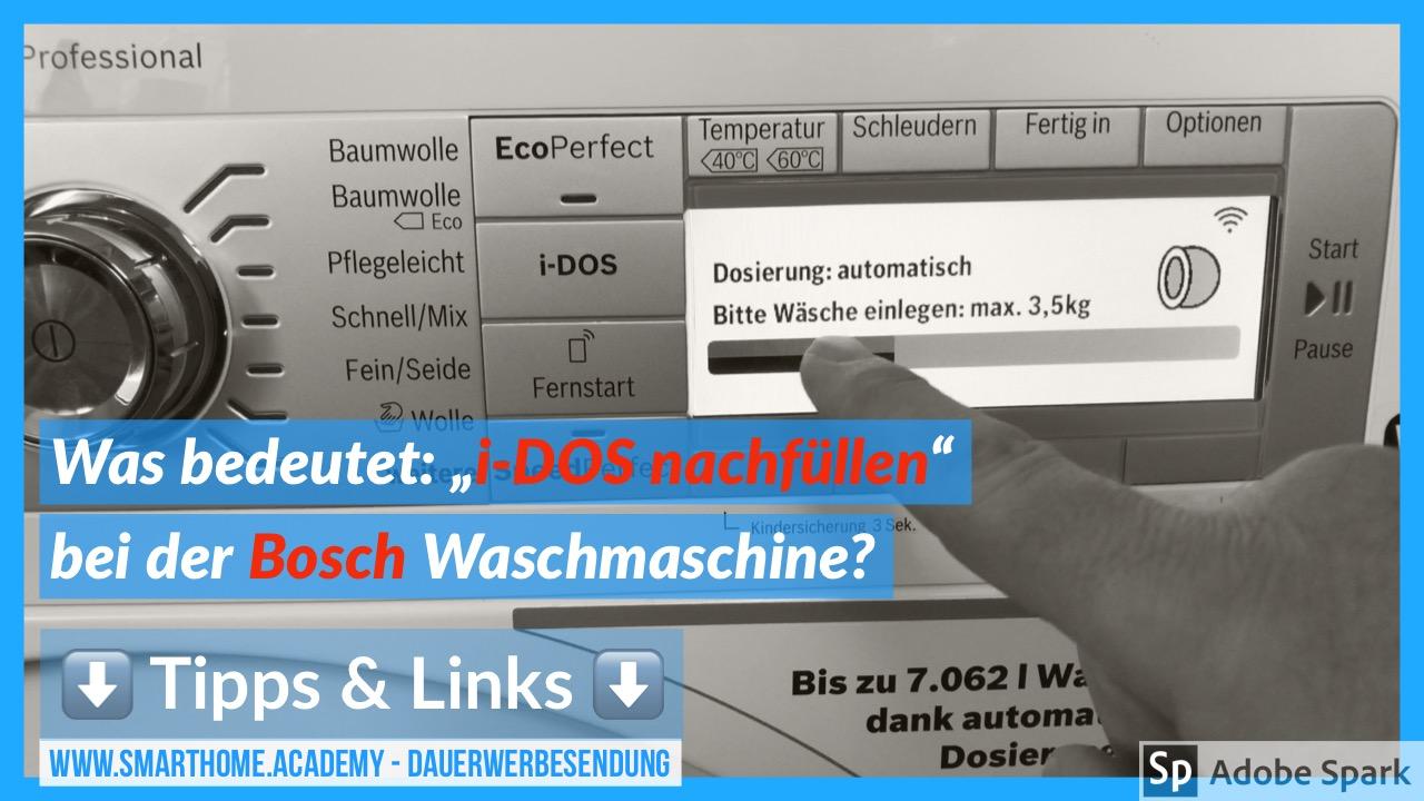 i-DOS Bosch Waschmaschine Waschmittel-Gel