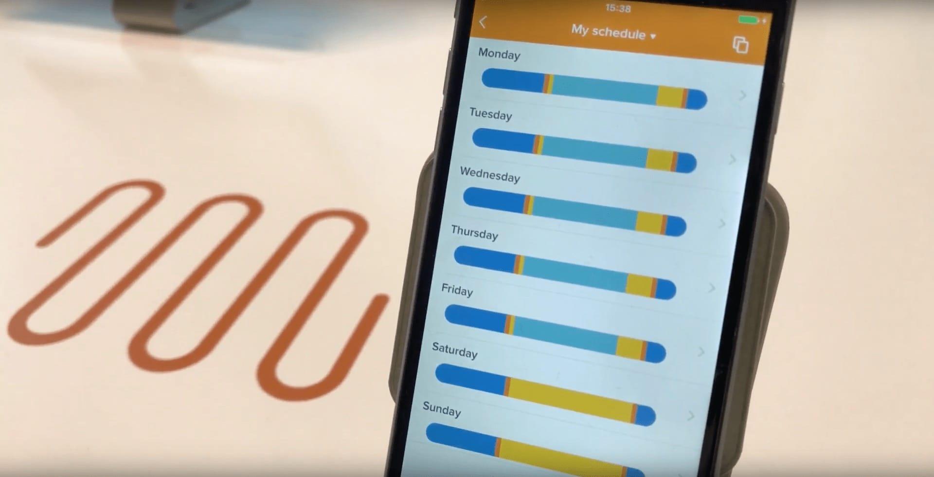 App für die smarte Heizungssteuerung: Wochenprogramm mit unterschiedlichen Temperaturphasen und Einzelraumsteuerung per Smartphone App