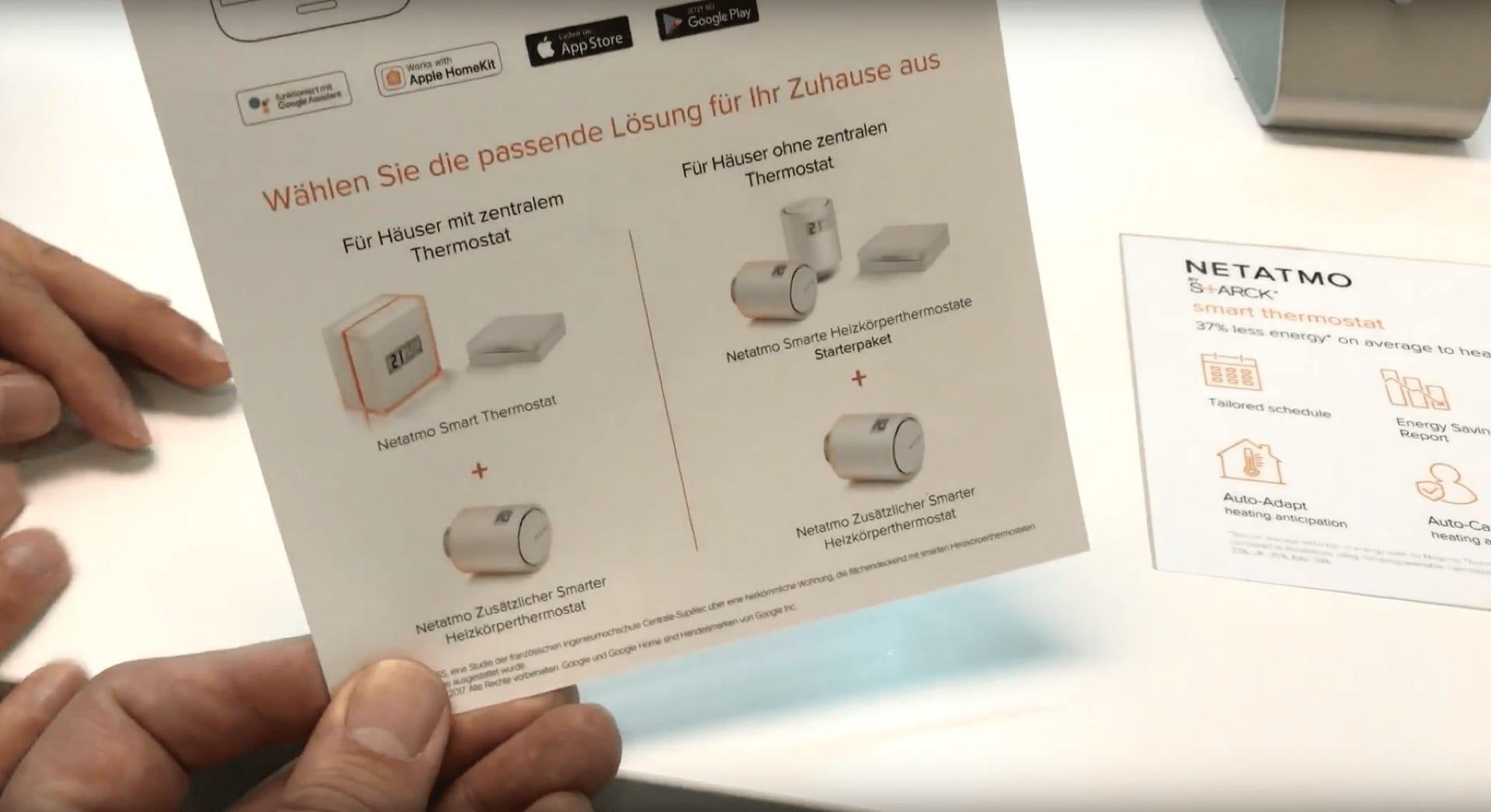 Bei Häusern mit zentralem Thermostat ersetzt das Netatmo Smart Thermostat das vorhandene Thermostat. Bei Häusern ohne zentrales Thermostat sind nur smarte Heizkörperthermostate und das Relay als Zentrale notwendig.