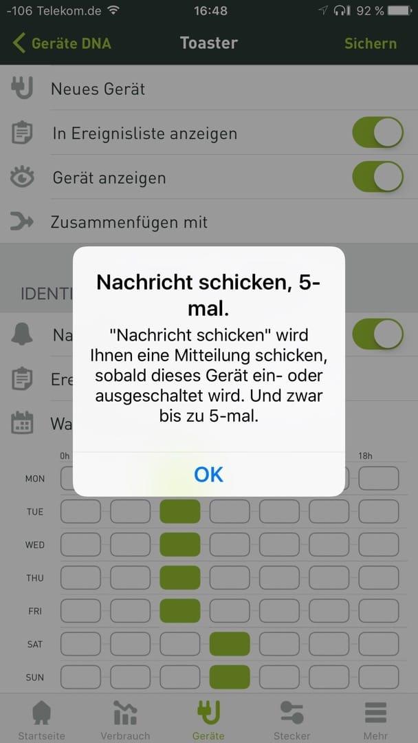 Smappee Monitor App: Geräte anlernen.