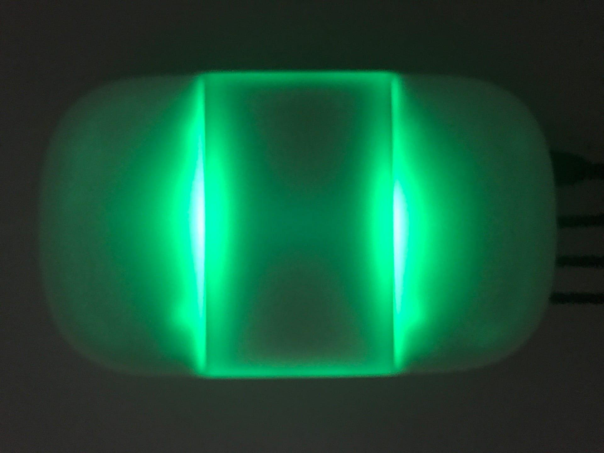 Smappee Monitor: Grünes LED-Licht atmet im Normal-Betrieb.