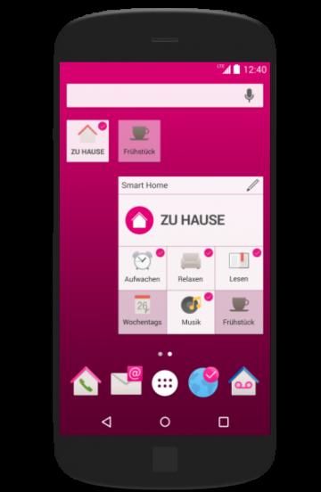 Magenta SmartHome Widget Android deutsch
